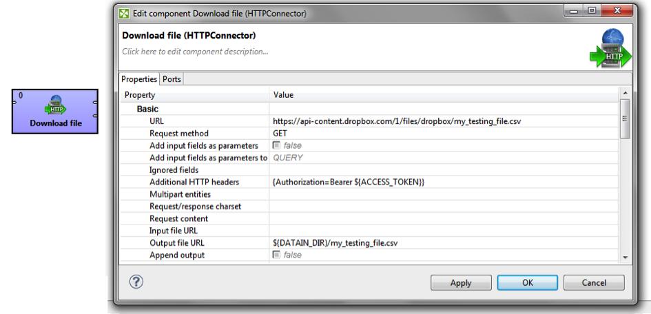 DownloadFileDropboxCloverETL - Dropbox Core API