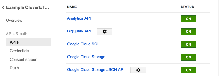 EnableAnalyticsApi in google API
