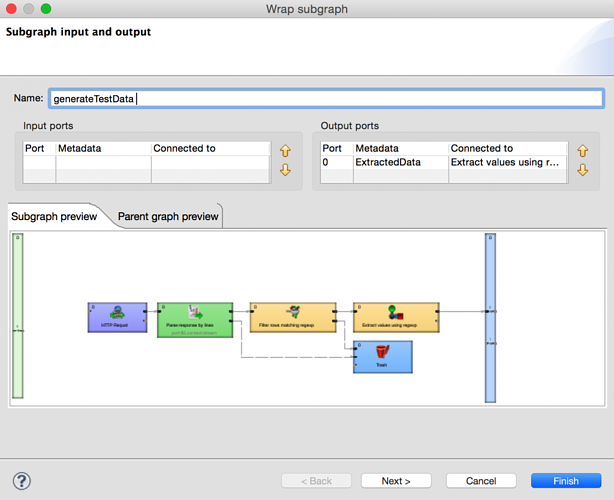 Naming and setting subgraphs in CloverETL 4.0 - Simplify data integration