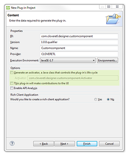 Creating Custom Component in CloverDX Step By Step: Create Plugin project C