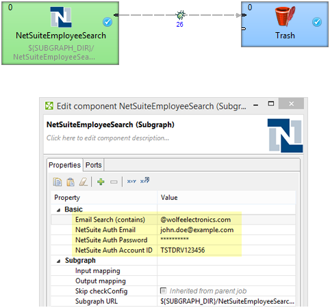 Subgraph as a connector for getting data from NetSuite