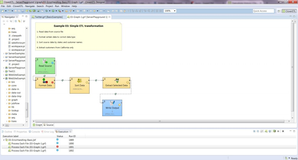 Execution View on CloverETL Server