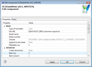 Export Data from a Database to Excel: XLSDataWriter configuration - export data